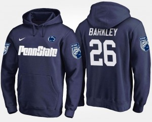 For Men's Name and Number Navy Saquon Barkley Penn State Hoodie #26