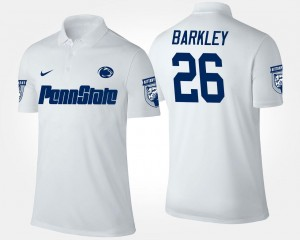 White Name and Number #26 Saquon Barkley Penn State Nittany Lions Polo Men