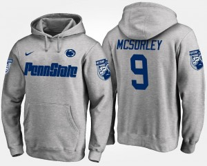 Trace McSorley Penn State Hoodie Gray Name and Number #9 For Men's