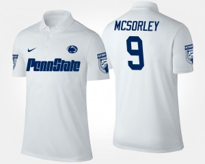 White Trace McSorley Penn State Polo #9 Men's Name and Number