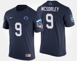 Bowl Game Navy #9 Trace McSorley Penn State T-Shirt Mens Fiesta Bowl