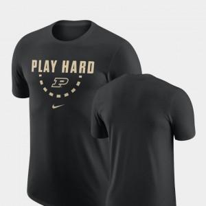 For Men Black Basketball Team Nike Purdue Boilermakers T-Shirt