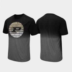 Black For Men Dip Dye Fancy Walking Purdue T-Shirt