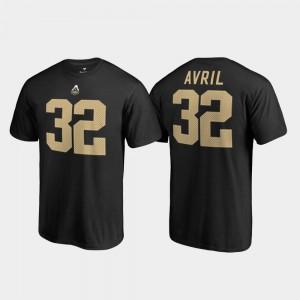 Cliff Avril Purdue T-Shirt #32 Name & Number College Legends Men Black