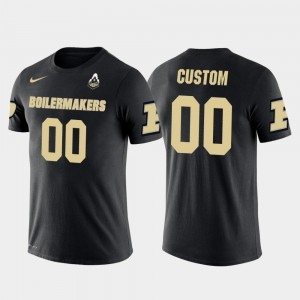 Future Stars Purdue University Customized T-Shirts #00 Cotton Football For Men's Black