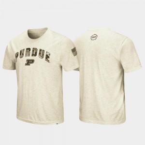OHT Military Appreciation Men's Oatmeal Desert Camo Purdue T-Shirt