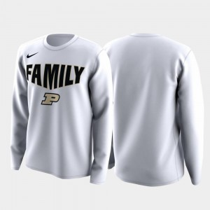 Family on Court Purdue T-Shirt Mens White March Madness Legend Basketball Long Sleeve