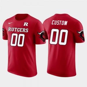 Mens Future Stars #00 Rutgers Custom T-Shirt Cotton Football Red