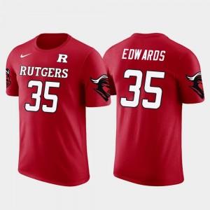 Red Baltimore Ravens Football Men #35 Future Stars Gus Edwards Rutgers University T-Shirt