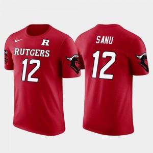 #12 Mohamed Sanu Rutgers Scarlet Knights T-Shirt Atlanta Falcons Football Future Stars Men Red