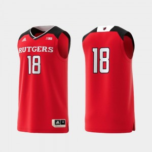 Basketball Swingman College Adidas Replica #18 Scarlet Rutgers Jersey For Men