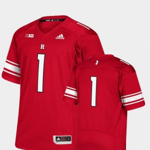 #1 Scarlet Rutgers Scarlet Knights Jersey Premier Adidas College Football For Men's