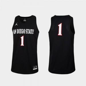San Diego State Jersey For Men's Replica Jordan Brand College Basketball #1 Black