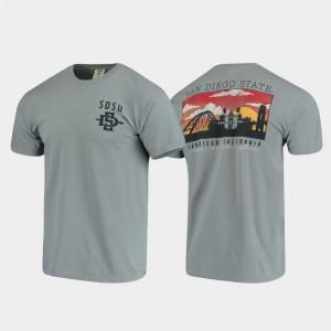 Comfort Colors Campus Scenery Aztecs T-Shirt Gray Mens