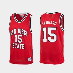 Red #15 Authentic Men's Kawhi Leonard Aztecs Jersey College Basketball