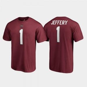 Garnet For Men's Name & Number #1 College Legends Alshon Jeffery Gamecocks T-Shirt