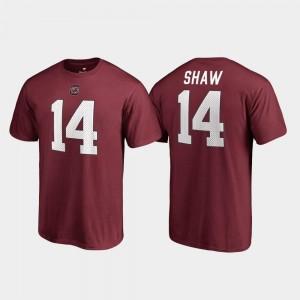 Name & Number #14 Garnet Men's Connor Shaw South Carolina T-Shirt College Legends