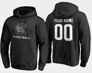 Basketball For Men's Black Name and Number #00 University of South Carolina Customized Hoodies