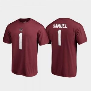 College Legends Garnet For Men's Deebo Samuel Gamecocks T-Shirt Fanatics Branded Name & Number #1