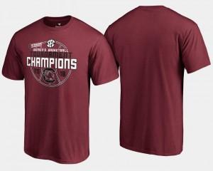 Men Gamecocks T-Shirt Basketball Conference Tournament 2018 SEC Women's Champions Garnet