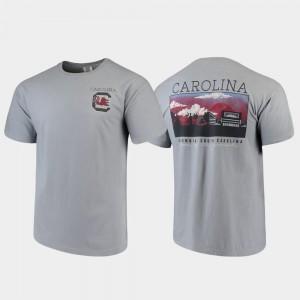 Campus Scenery South Carolina T-Shirt Mens Gray Comfort Colors