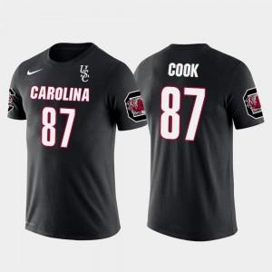 Future Stars Black #87 Jared Cook Gamecocks T-Shirt Men Oakland Raiders Football