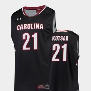 College Basketball Men Replica Black #21 Maik Kotsar South Carolina Gamecocks Jersey
