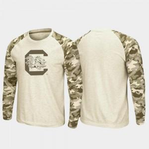 South Carolina T-Shirt Oatmeal Mens OHT Military Appreciation Raglan Long Sleeve Desert Camo
