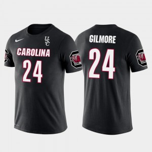New England Patriots Football Men's #24 Stephon Gilmore Gamecocks T-Shirt Future Stars Black