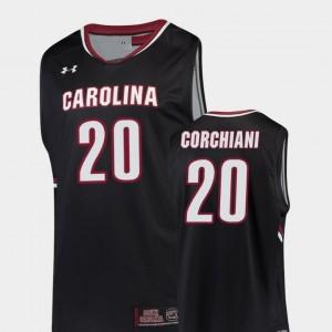 #20 Tommy Corchiani South Carolina Gamecocks Jersey Replica Black Men College Basketball