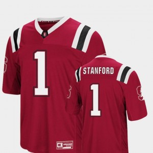 Colosseum Authentic Foos-Ball Football For Men's Cardinal Stanford Jersey #1