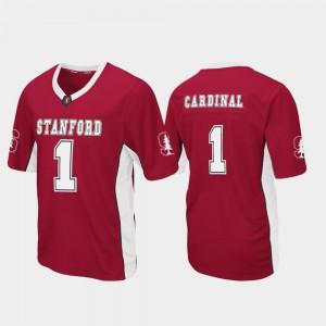 Stanford University Jersey Mens Cardinal Max Power Football #1