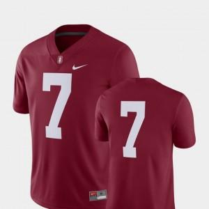 2018 Game Nike Cardinal #7 College Football For Men Stanford University Jersey
