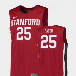 Replica College Basketball Red For Men's Blake Pagon Stanford Jersey #25