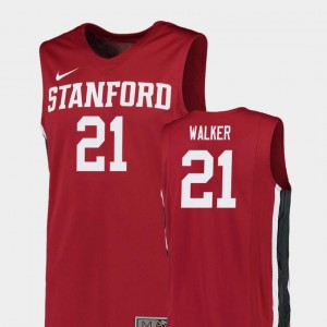 #21 Red Replica For Men College Basketball Cameron Walker Stanford Jersey