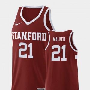 #21 Wine College Basketball Replica Cameron Walker Stanford Jersey Men