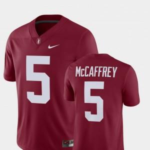 Player Nike For Men Cardinal #5 Christian McCaffrey Cardinal Jersey Alumni Football Game