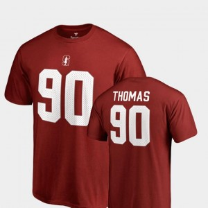 Cardinal Solomon Thomas Stanford Cardinal T-Shirt #90 Name & Number College Legends Mens