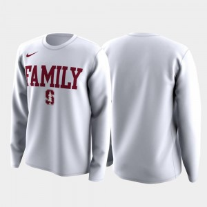 Cardinal T-Shirt White March Madness Legend Basketball Long Sleeve Family on Court Men's