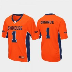 Cuse Jersey #1 Men Max Power Orange Football
