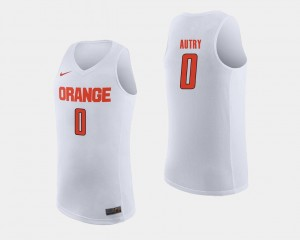 White College Basketball #0 Adrian Autry Syracuse Jersey Mens