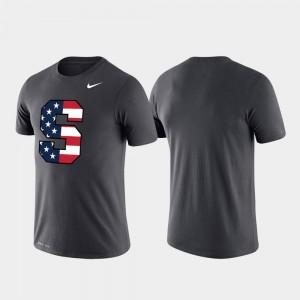 Americana Legend Anthracite For Men's Syracuse Orange T-Shirt Performance