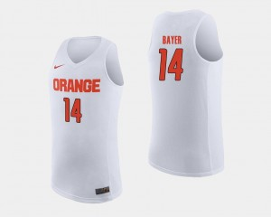 College Basketball #14 White Men Braedon Bayer Orange Jersey