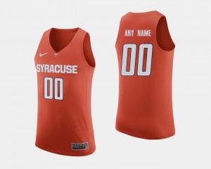 Orange Customized Jerseys College Basketball Mens #00 Orange