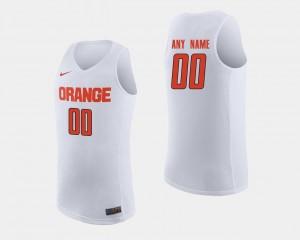 Men College Basketball #00 White Syracuse University Custom Jerseys