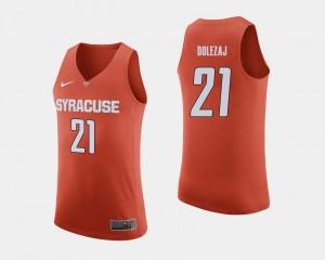 College Basketball Men's #21 Orange Marek Dolezaj Cuse Jersey