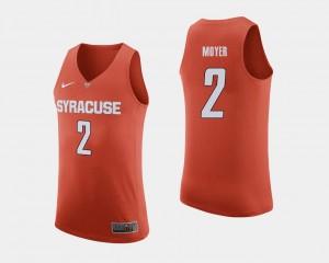Matthew Moyer Cuse Jersey College Basketball For Men's #2 Orange