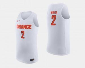 #2 White Matthew Moyer Syracuse Jersey Mens College Basketball