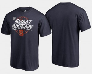 Syracuse Orange T-Shirt Sweet 16 Bound Navy 2018 March Madness Basketball Tournament Backdoor Men's