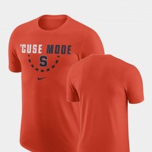 Orange For Men Basketball Team Cuse T-Shirt Nike